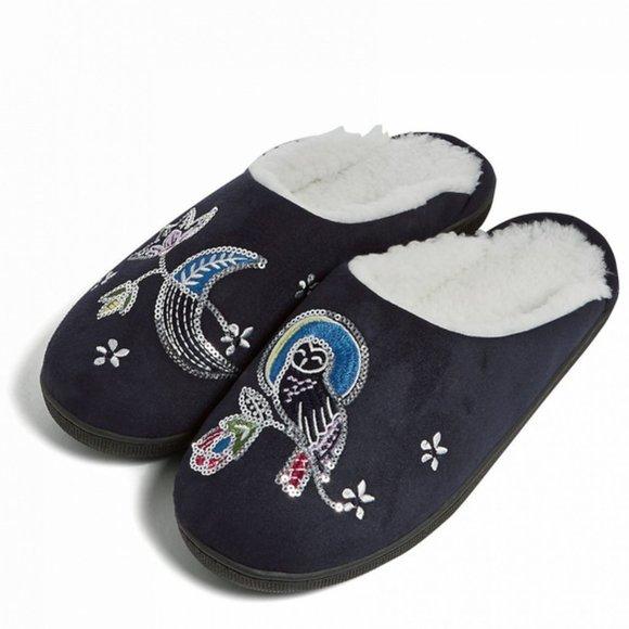 SOLD!!! Vera Bradley Embellished Slippers